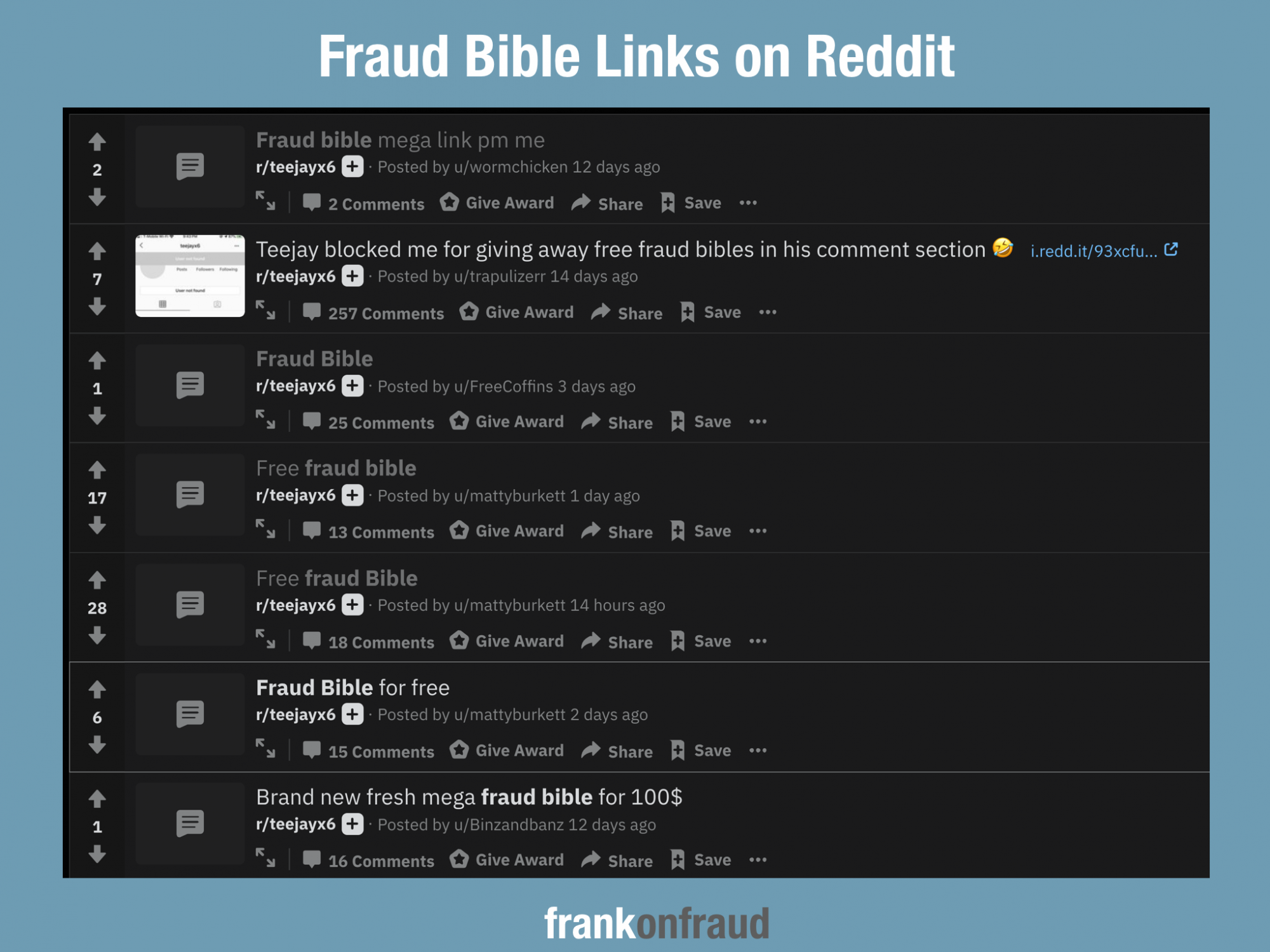 The Fraud Bible is The Hottest Book on The Internet – Frank